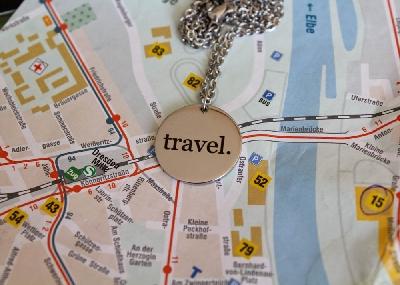"""Медальон """"travel."""""""