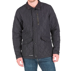 Trespass Mens Argyle Quilted Jacket Black