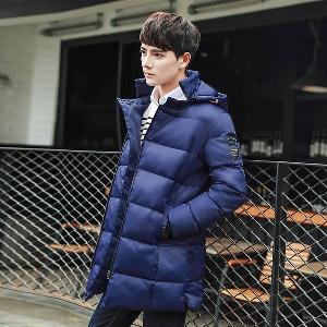 3b60c5617d6 badu.gr - Ανδρικά χειμωνιάτικα μπουφάν με κουκούλα και πολυεστέρα και  βαμβάκι μπλε, ...