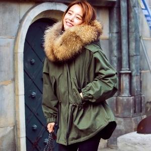 σακάκι χειμώνα πάρκο HIT Γυναικών πράσινο με ένταση