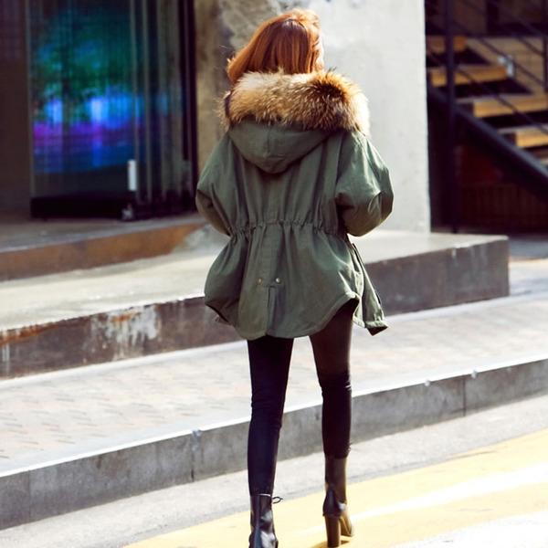 ad6dfecda25 Дамско зимно ХИТ яке парка зелено с обемен пух - Badu.bg - Светът в ръцете  ти