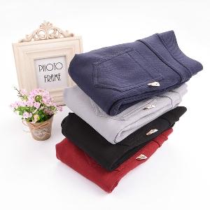 Детски ластични панталони за момичета - дебели, тип Слим, в черен, сив, тъмносив и червен цвят