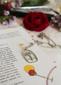 """Колие """"Розата на малкия принц"""""""