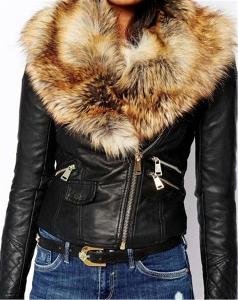 Дамско зимно яке с обемиста пухена част от изкуствена кожа три топ модела