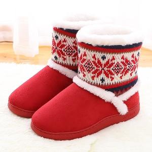 Γυναικείες χειμωνιάτικες παντόφλες τύπου παπούτσια σκούρο μπλε, μοβ, κόκκινο χρώμα