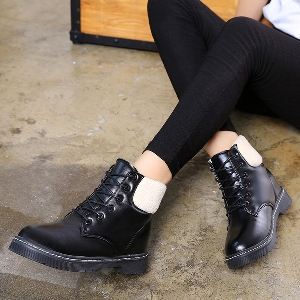 Γυναικείες καπιτονέδες casual μπότες από οικολογικό δέρμα μαύρο, κόκκινο και μπορντό χρώμα