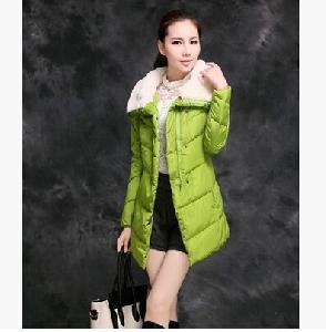 Дамско дълго яке с пухена яка и качулка черно, виненочервено, зелено, оранжево, светлосиньо