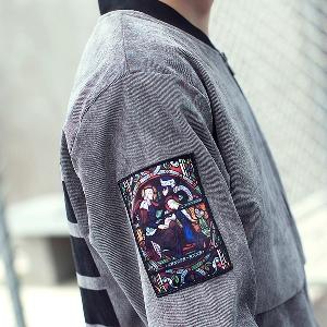 Χειμερινά  μπουφάν ανδρικά με βελούδινη επένδυση μαύρο και γκρι μεγάλο και μικρό μέγεθος