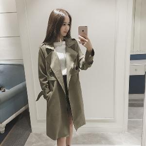 Κομψό μακρύ παλτό σε δύο χρώματα - πράσινο 2662b3b30c9
