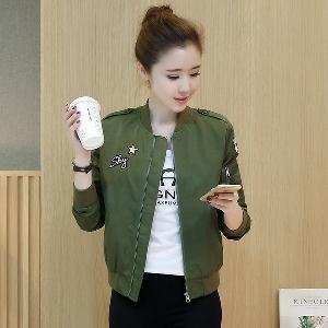 σύντομη σκούρο πράσινο σακάκι άνοιξης γυναικών