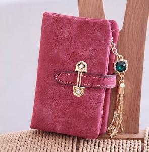 Κομψό κυρίες πορτοφόλι με πέτρες σε μπλε, μαύρο, πράσινο, ροζ, καφέ, μπλε και γκρι χρώμα