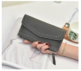 Καθαρίστε trendy πορτοφόλι σε μαύρο, ροζ, γκρι, μπλε, κόκκινο και σκούρο μπλε χρώμα