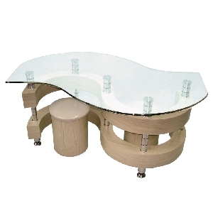 Холна маса със закалено стъкло 4 модела