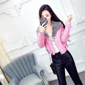 Κομψή κυρίες σακάκι με φτερά σε ροζ, λευκό και μαύρο