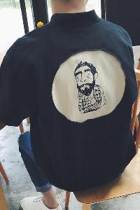 Αθλητικό μπουφάν μπέιζμπολ για άνδρες  σε μπεζ και μαύρο χρώμα