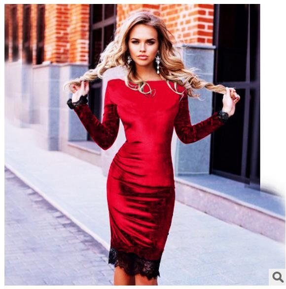 d6b572b7c683 Κυρίες σύγχρονη άνοιξη φόρεμα το καλοκαίρι του 2017 τρία μοντέλα με μακριά  μανίκια και τα στοιχεία δαντέλα μαύρο