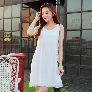 763b97cf77d Дамски летни шифонени рокли в най-разнообразни цветове бяла, зелена,  розова, черна