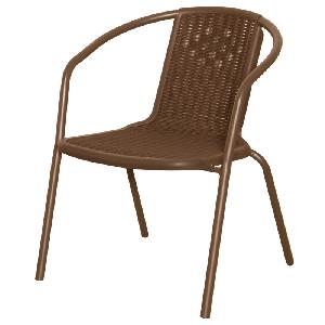 Градински столове 2 цвята, материал Полипропилен - цветове: кафяв и антрацит