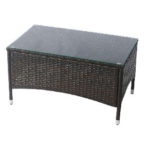 Градинска маса с кафяво стъкло