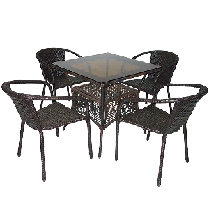 Комплект градински мебели Вито 45 - черни и бели модели