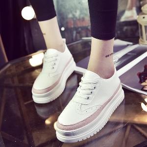 4798af32fbb Γυναικεία κομψά αθλητικά παπούτσια σε πλατφόρμα σε κόκκινο, μαύρο και ροζ  χρώμα