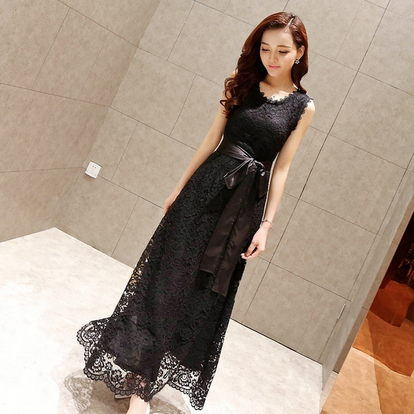 40844a4342d9 Κυρίες δαντέλα μακρά μποέμ φορέματα μαύρο και άσπρο άνοιξη και το καλοκαίρι  φόρεμα - Badu.gr Ο κόσμος στα χέρια σου