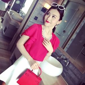 Дамски елегантни ризи с къс ръкав различни модели и цветове