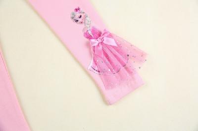 Детски нов дълъг памучен клин  бял и розов с принцеса ЕЛЗА