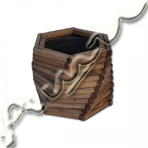 Дървена кашпа - иглолистна дървесина /ф26/