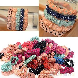 Сет от 10 ластика за коса за момичета в различни цветове