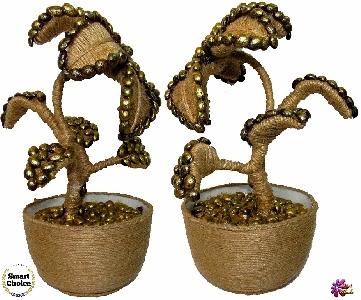 Сувенир - Декоративно цвете с кафе - 30 см