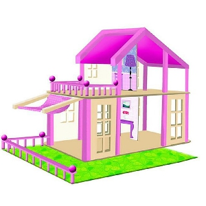 Дървена къща за кукли \