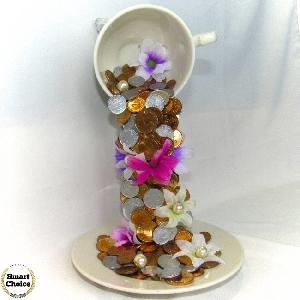 Сувенир - Летяща чаша на парите и богатството - 24 см. Модел DM-9011