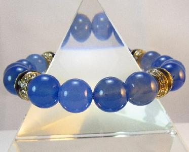 Дамска гривна от естествени камъни Аквамарин - DM-2263