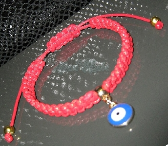 Дамска плетена гривна против зли очи и уроки- DM-2204