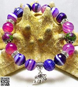 Дамска гривна от естествени камъни Ахат и Цоизит - DM-2225