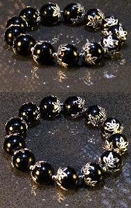 Дамска гривна от естествени камъни черен Оникс - DM-2220