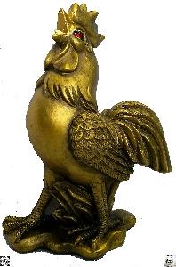 Фън Шуй статуетка. Фигура от полирезин на петел - 11 см. Модел FS-4366