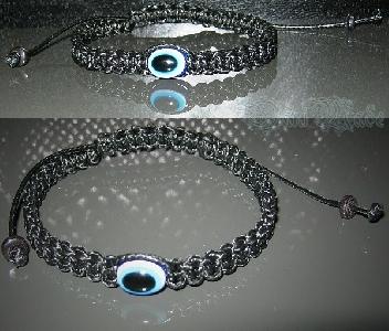 Дамска плетена гривна против зли очи и уроки - DM-2200