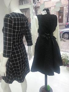 черна дизайнерска рокля