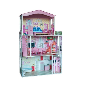 Къща за кукли с асансьор - цветна // Woody