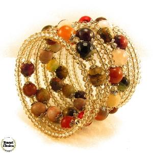 Уникална дамска гривна Саманта от естествени камъни
