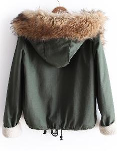 Γυναικείο ζεστό μπουφάν Φθινόπωρο / Χειμώνας 2014 Dotfashion
