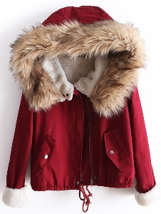Топло дамско яке есен/зима 2014 Dotfashion