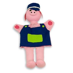 Прасенцето Пинки - кукла за куклен театър // Andreu toys