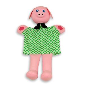 Прасенцето Тед - кукла за куклен театър // Andreu toys