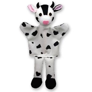 Бяла крава - кукла за куклен театър // Andreu toys