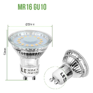 LED лунички Lightning Ever GU10 4W MR16 350lm - 10 бр.