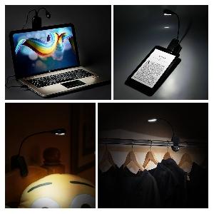 Нощна LED лампа със зареждаща се батерия и USB порт