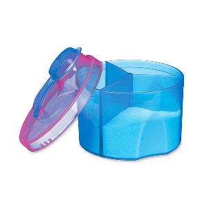 Кутия за деца  с 3 отделения за суха храна 2 цвята (адаптирано мляко)
